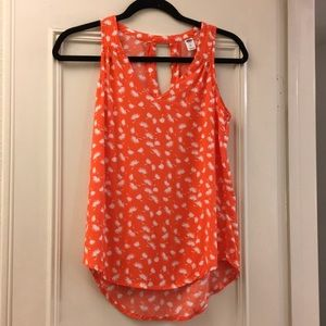 Old Navy orange and white tank top